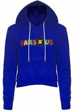 "Womens Ladies PARS ""R"" US Print Fleece Crop Cropped Hood Hooded Hoody Sweatshirt"