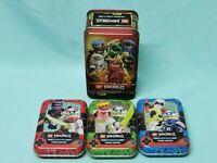 Lego® Ninjago™ Serie 5 Trading Card Game alle 4 Tin Boxen leer
