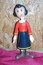 Old 1976 Olive Oyl Doll Vintage King Features Hard Plastic Cartoon Dolls Popeye