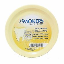 Eva Smokers With Miswak Meswak Swak Cleansing/Whitening Tooth Powder Oral Care