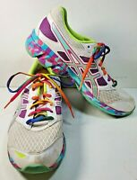 ASICS Gel-Frantic 7 Womens Size 9 Running Shoes Rainbow Multi-Color