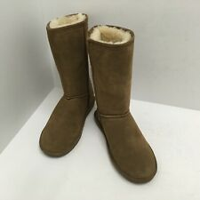 """BEARPAW Emma 10"""" Suede Boot Shoes 610W Brown Women's Size 8M GUC"""