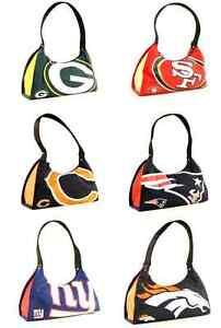 "NFL Big Logo Purse 12"" x 3"" x 7"" - Choose Your Team"