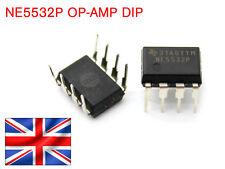 2x NE5532P - OP AMP, DUAL LOW NOISE AUDIO, DIP8 - FREE UK POSTAGE (Pack of 2)