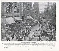 1897 Vittoriano Stampa ~ Jubilee Celebrations IN Montreal PHILLIP Quadrato ~