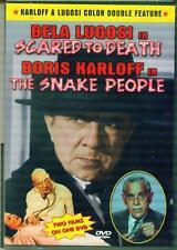SCARED TO DEATH/SNAKE PEOPLE - Lugosi/Karloff - NEW DVD