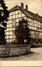 Strasburg Uckermark DDR s/w AK 1963 Landambulatorium Gartenseite Fachwerkhaus