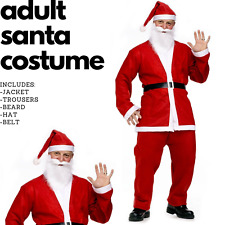 ADULT SANTA CLAUS COSTUME Suit Father Xmas Party Outfit Father Christmas
