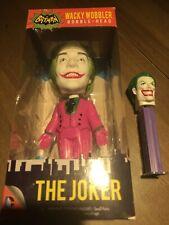 """Funko The Joker Wacky Wobbler 7"""" Bobble-Head Batman 1966 Series Free Joker Pez"""