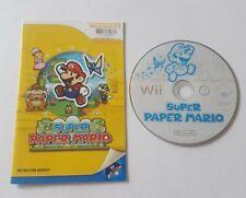 SUPER PAPER MARIO BROS BROTHERS NINTENDO WII / WII U GAME KIDS CHILDRENS GIFT