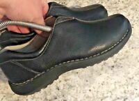 SONOMA Fae Black Leather Life & Style Slip On Clogs Women's SIZE 6.5 M