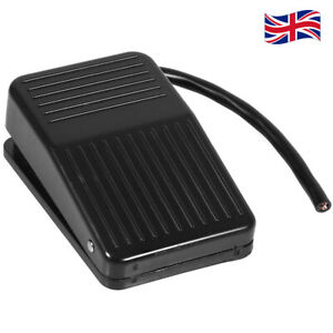 220V 10A Electrical Power Foot Pedal Switch ON/OFF Blalck Replacement Tool - UK