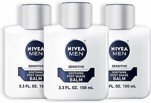 3pk Nivea Men Sensitive Post Shave Balm Soothes and Improves Skin 3.3oz each f1