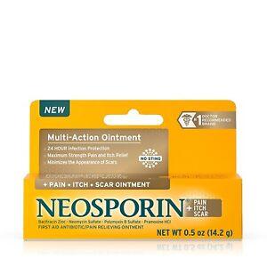 Neosporin + Pain, Itch, Scar Antibiotic Ointment, 0.5 Oz