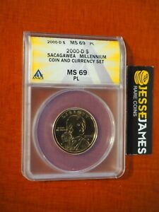 2000 D $1 SACAGAWEA DOLLAR ANACS MS69 PL FROM MILLENNIUM COIN AND CURRENCY SET