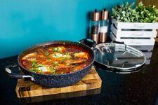 28cm Scoville NonStick BLACK Shade Kadai Shallow Casrol Pot Frying Saute Cook