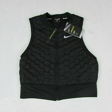 Nike Aeroloft Down Womens Running Vest Crop Medium AA3575-010 New Black $180