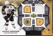 2007-08 PATRICE BERGERON BLACK DIAMOND JERSEY CARD