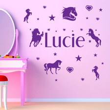Personalised Horse Wall Sticker Girls Bedroom Vinyls Wall Art Decal.... Any Name