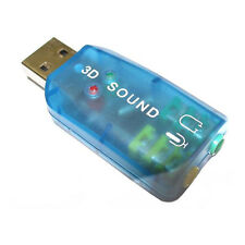 Dynamode External USB Dongle PC Computer Laptop Audio Stereo Sound Card Adaptor