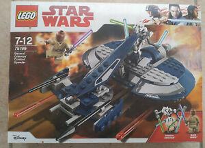 SET BOITE LEGO STAR WARS VAISSEAU 75199 GENERAL GRIEVOUS COMBAT DRIVER WINDU