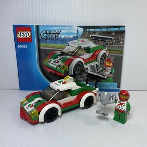 LEGO 60053 Octan Race Car w/ Driver RARE RETIRED 2014 100% Complete Instructions