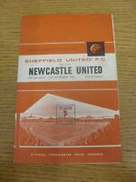 27/11/1965 Sheffield United v Newcastle United  (Creased, Rusty Staples, Marks).