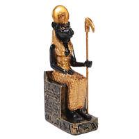 "Sekhmet Statue Sachmis Ancient Egyptian Goddess Hunter Figurine Small 3"" Sitting"
