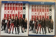 OCEAN'S 8 BLU RAY + DVD WITH SLIPCOVER 2 DISC SET FREE SHIPPING SANDRA BULLOCK
