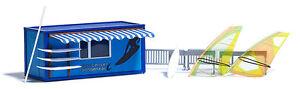 Busch 1037 Surfboard-Rental H0#New Original Packaging #