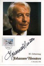 Philswiss Autogramm - Johannes Heesters - limitiert