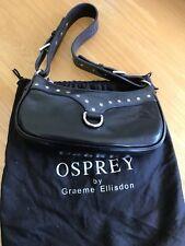Genuine Osprey Black Leather Bag