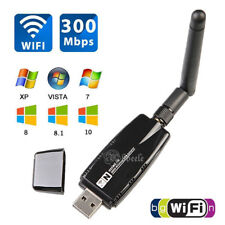 Mini 300Mbps USB WiFi Wireless Adapter Dongle LAN Card 802.11n/g/b w/ Antenna m