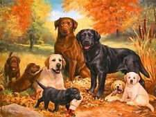 DOG FAMILY MOSAIC DIAMOND PAINTING KIT PAINT BY NUMBERS KIT 5D CROSS STITCH
