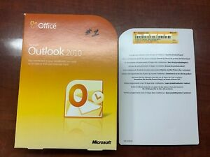 Microsoft Outlook 2010  - CARD INSERT ONLY