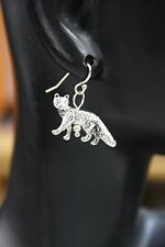 925 sterling silver earrings charm Coyote Fox Wild pewter 1 pair Nature Hunt