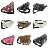 Bum Bag Fanny Pack Travel Pouch Festival Waist Belt Leather Holiday Money Wallet