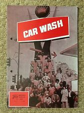 CAR WASH Vintage DISCO Movie Film Program ANTONIO FARGAS BILL DUKE RICHARD PRYOR