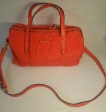 Vera Bradley Preppy Poly Marlo Satchel Purse Bag Crossbody Handbag Orange
