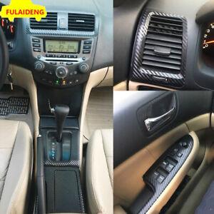 For Honda Accord 2003-2007 Carbon fiber Interior Central control panel stickers