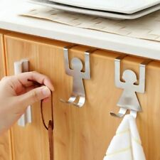 Stainless Steel Lovers Shaped Hooks Kitchen Pot Pan Hanger Clothes Storage Rack