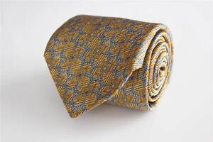 ROBERT TALBOTT Best of Class Luxe Silk Tie. Gold with Blue