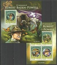 ST405 2016 SIERRA LEONE SCOUTS BADEN-POWELL SCOUTING KB+BL MNH STAMPS