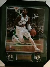 Kyrie Irving signed 16x20 Boston Celtics with Panini Authentic and NEP Certs UV