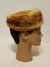 Vintage Real Mink Fur Outdoor Pill Box Style Ladies Hat