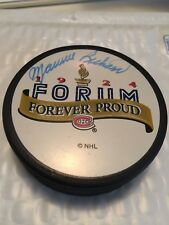 MAURICE RICHARD  CANADIENS SIGNED MONTREAL FORUM HOCKEY PUCK SGC CERT