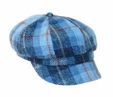 1fad40857747e Ladies Harris Tweed Baker Boy Style Hat in Lavender Check
