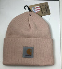 Rose Smoke Pink Carhartt Beanie Hat Cap . New With Tags .