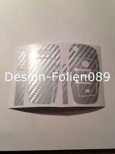 Carbon  Silber Folie Dekor Schlüssel Audi TT A1 8J A6 A3 8p A4 4F S3 S4 B7 Q7 RS