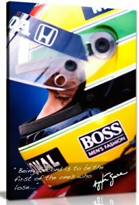 Ayrton Senna Quote F1 Canvas Wall Art Picture Print